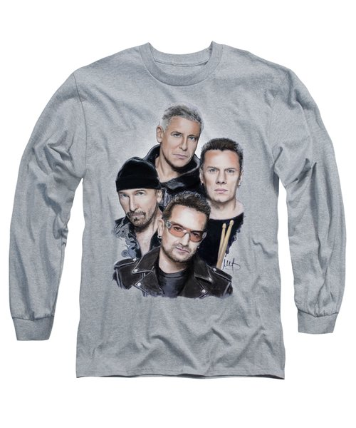 U2 Long Sleeve T-Shirt by Melanie D