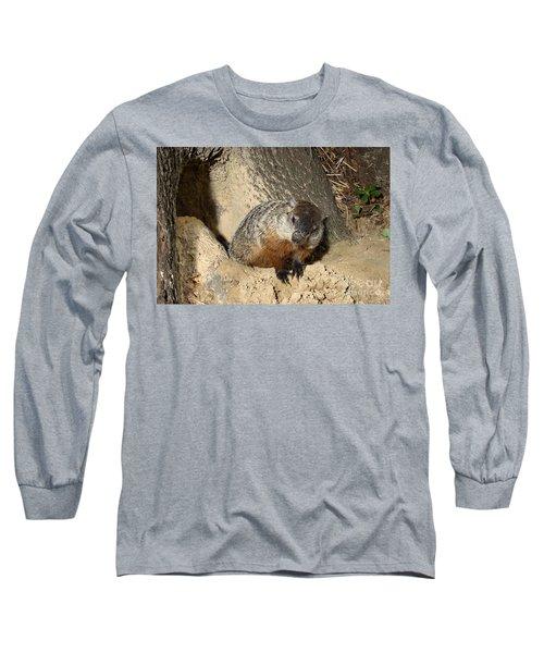 Woodchuck Long Sleeve T-Shirt by Ted Kinsman