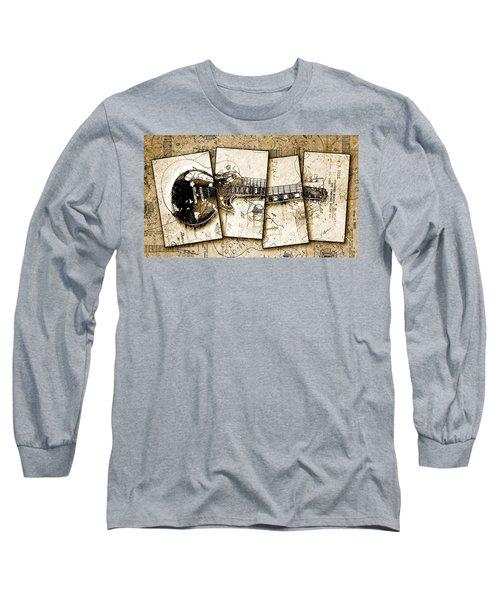1955 Les Paul Custom Black Beauty V5 Long Sleeve T-Shirt by Gary Bodnar