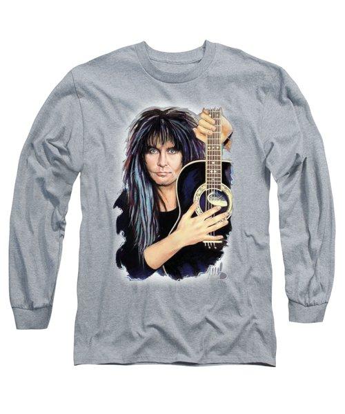 Blackie Lawless Long Sleeve T-Shirt by Melanie D