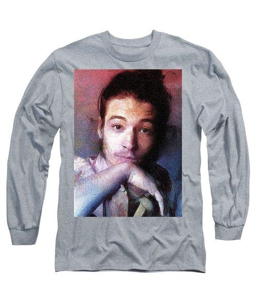 Ezra Miller Long Sleeve T-Shirt by Best Actors