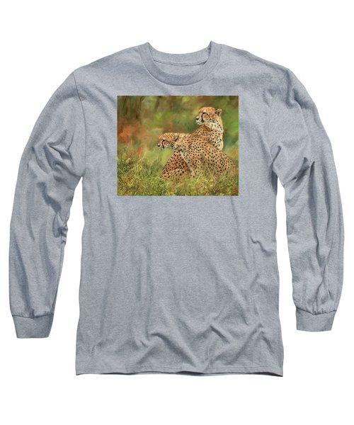 Cheetahs Long Sleeve T-Shirt by David Stribbling