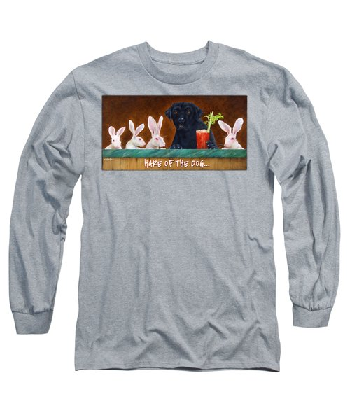 Hare Of The Dog... Long Sleeve T-Shirt by Will Bullas