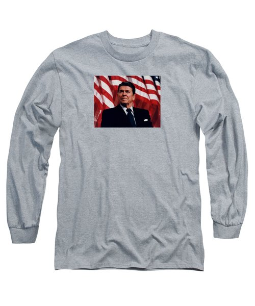 President Ronald Reagan Long Sleeve T-Shirt by War Is Hell Store