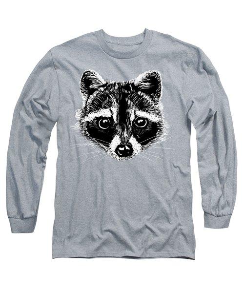 Raccoon Long Sleeve T-Shirt by Masha Batkova