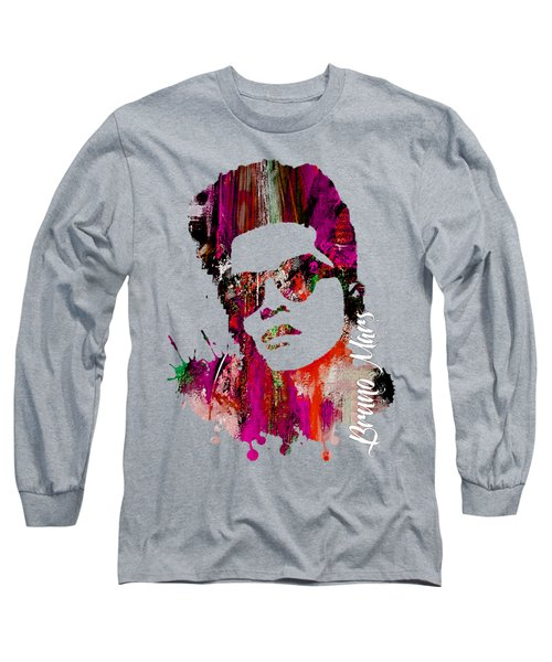 Bruno Mars Collection Long Sleeve T-Shirt by Marvin Blaine