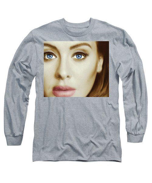 Adele Painting Circle Pattern 1 Long Sleeve T-Shirt by Tony Rubino