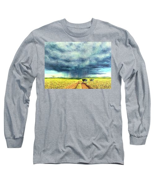 African Storm Long Sleeve T-Shirt by Tilly Willis