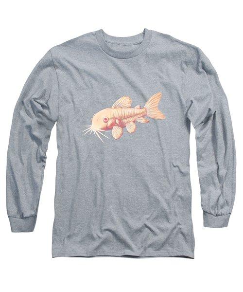 Albino Cory Catfish Long Sleeve T-Shirt by Lucy Niedbala