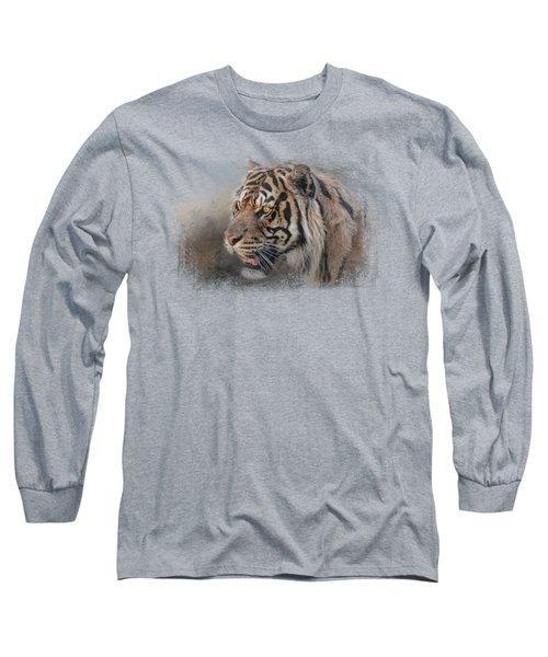 Alert Bengal Long Sleeve T-Shirt by Jai Johnson