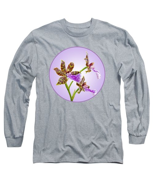 Bold And Beautiful - Zygopetalum Orchid Long Sleeve T-Shirt by Gill Billington
