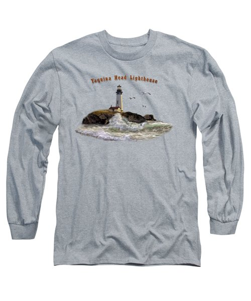 Oregon Lighthouse Beam Of Hope Long Sleeve T-Shirt by Regina Femrite