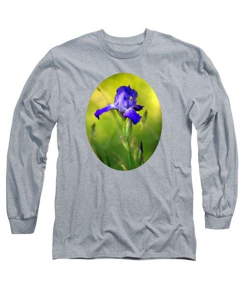 Violet Iris Long Sleeve T-Shirt by Christina Rollo