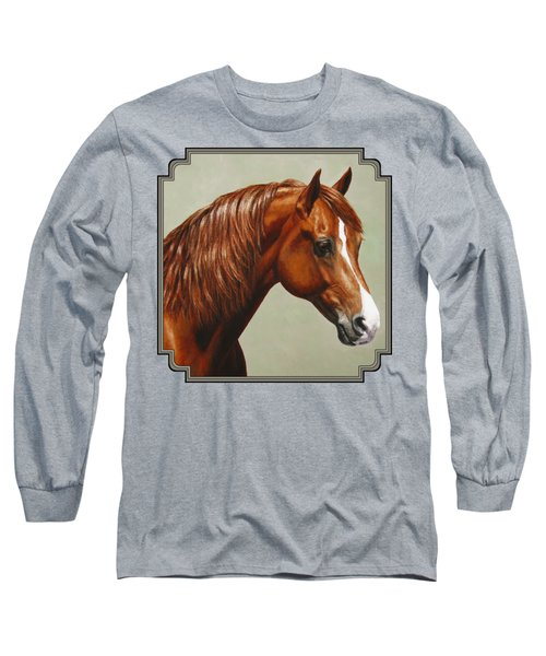 Morgan Horse - Flame Long Sleeve T-Shirt by Crista Forest