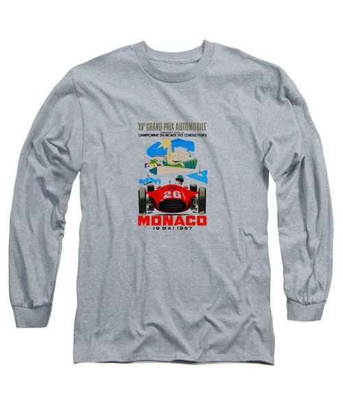 Monaco 1957 Long Sleeve T-Shirt by Mark Rogan