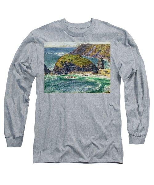 Asparagus Island Long Sleeve T-Shirt by William Holman Hunt