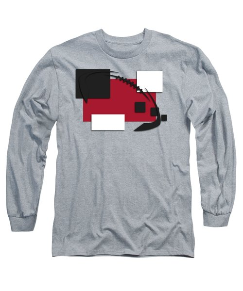 Atlanta Falcons Abstract Shirt Long Sleeve T-Shirt by Joe Hamilton