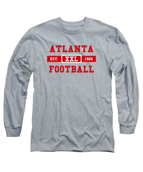 Atlanta Falcons Retro Shirt 2 Long Sleeve T-Shirt by Joe Hamilton