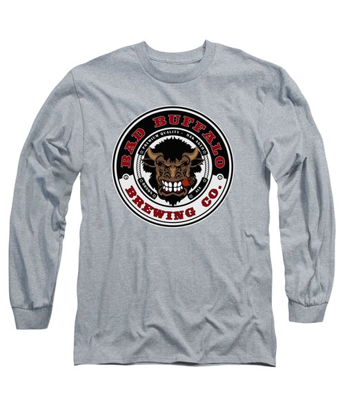 Bad Buffalo Brewing Long Sleeve T-Shirt by Christopher Williams