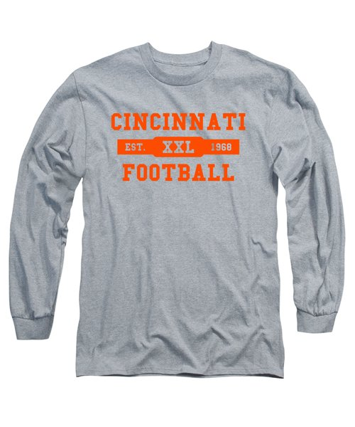 Bengals Retro Shirt Long Sleeve T-Shirt by Joe Hamilton