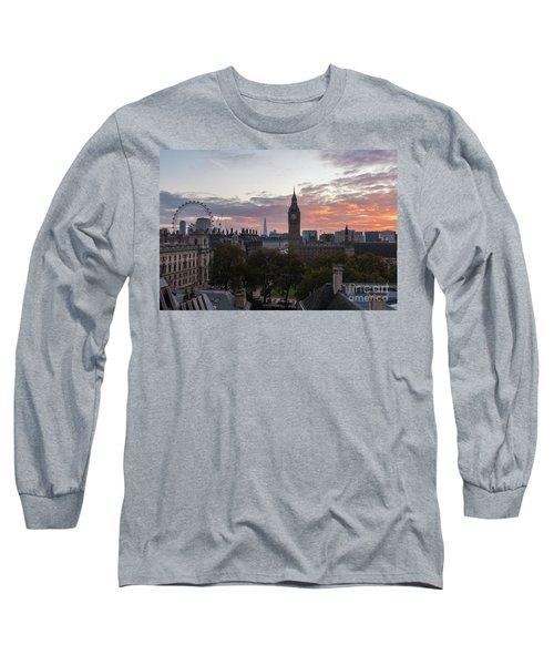 Big Ben London Sunrise Long Sleeve T-Shirt by Mike Reid