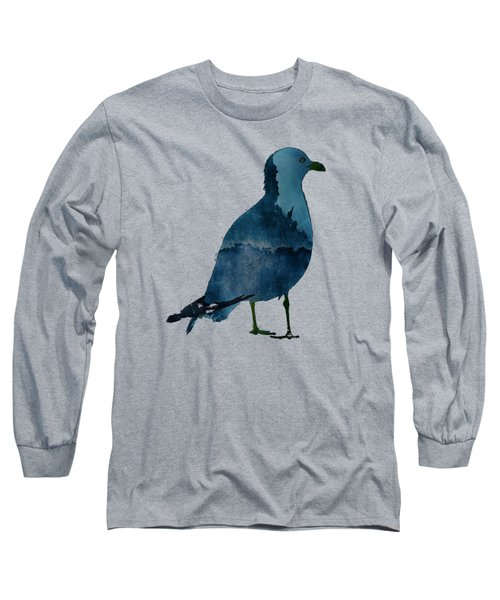 Bluegull Of Art T-shirt Long Sleeve T-Shirt by Majula Warmoth