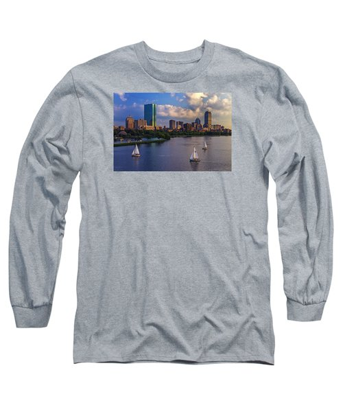 Boston Skyline Long Sleeve T-Shirt by Rick Berk