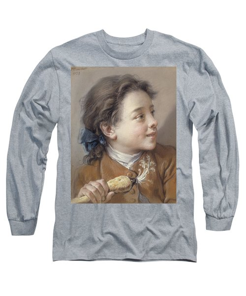 Boy With A Carrot, 1738 Long Sleeve T-Shirt by Francois Boucher