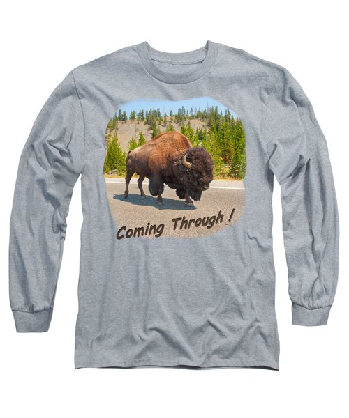 Buffalo Long Sleeve T-Shirt by John M Bailey