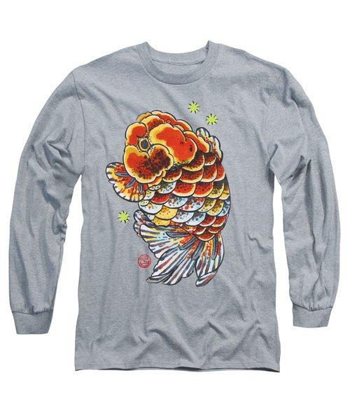 Calico Ranchu Long Sleeve T-Shirt by Shih Chang Yang