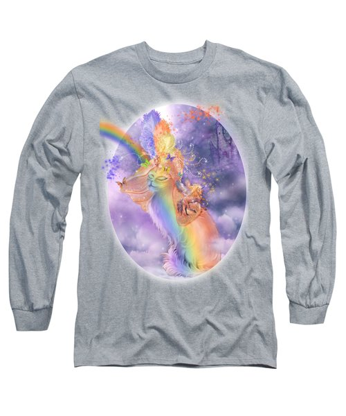 Cat In The Dreaming Hat Long Sleeve T-Shirt by Carol Cavalaris