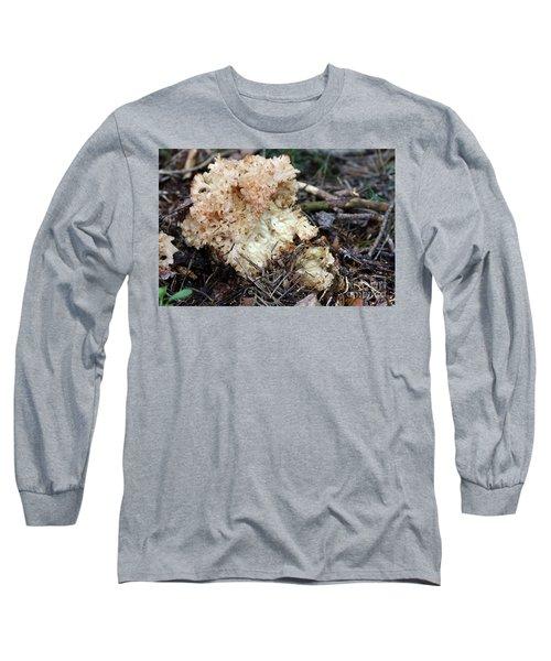 Cauliflower Fungus Long Sleeve T-Shirt by Michal Boubin