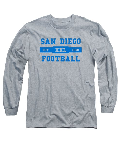 Chargers Retro Shirt Long Sleeve T-Shirt by Joe Hamilton