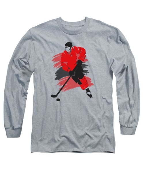 Chicago Blackhawks Player Shirt Long Sleeve T-Shirt by Joe Hamilton
