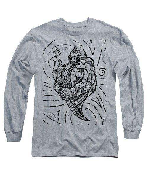 Chicken Master Long Sleeve T-Shirt by Erki Schotter