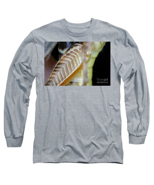 Close-up Of Grasshopper Leg Long Sleeve T-Shirt by Ted Kinsman