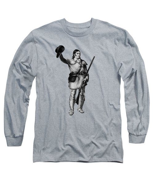 Colonel Davy Crockett Long Sleeve T-Shirt by War Is Hell Store