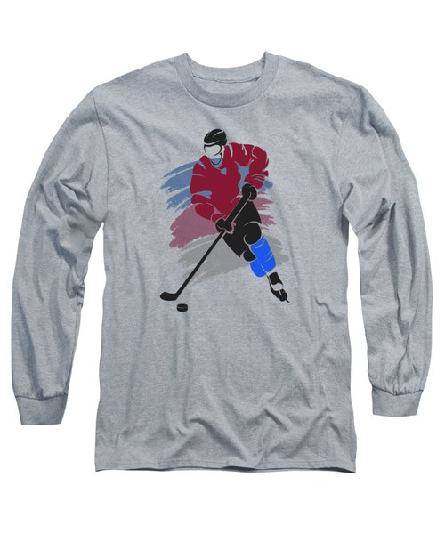 Colorado Avalanche Player Shirt Long Sleeve T-Shirt by Joe Hamilton