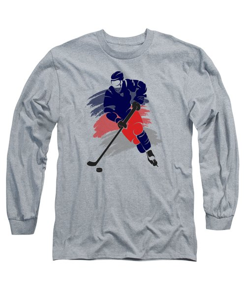 Colubus Blue Jackets Player Shirt Long Sleeve T-Shirt by Joe Hamilton