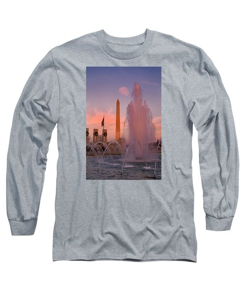 Dc Sunset Long Sleeve T-Shirt by Betsy Knapp