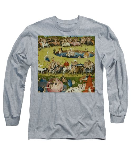 Detail From The Central Panel Of The Garden Of Earthly Delights Long Sleeve T-Shirt by Hieronymus Bosch