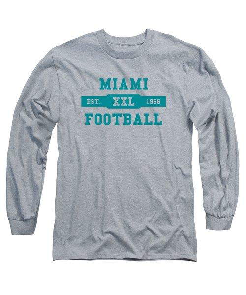 Dolphins Retro Shirt Long Sleeve T-Shirt by Joe Hamilton
