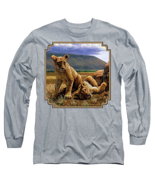 Double Trouble Long Sleeve T-Shirt by Crista Forest