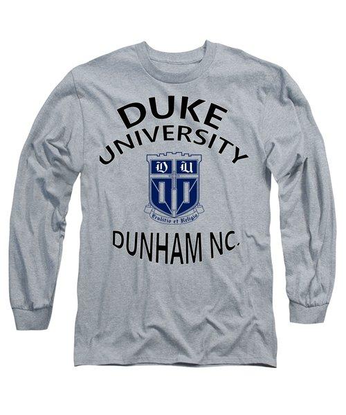 Duke University Dunham N C  Long Sleeve T-Shirt by Movie Poster Prints