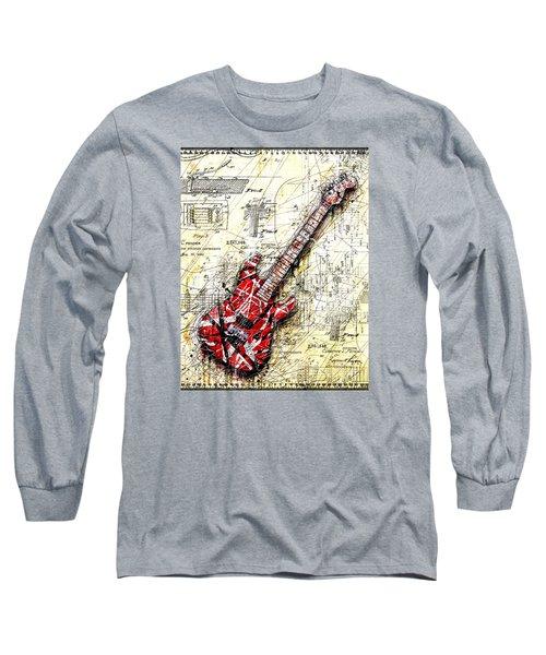 Eddie's Guitar 3 Long Sleeve T-Shirt by Gary Bodnar