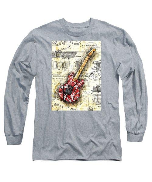 Eddie's Guitar II Long Sleeve T-Shirt by Gary Bodnar
