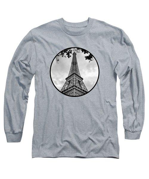 Eiffel Tower - Transparent Long Sleeve T-Shirt by Nikolyn McDonald