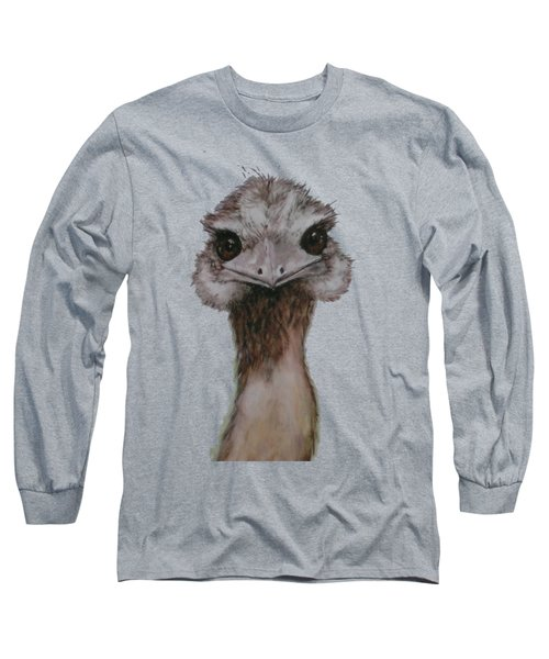 Emu Selfie Long Sleeve T-Shirt by Kathy Carothers