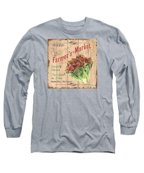 Farmer's Market Sign Long Sleeve T-Shirt by Debbie DeWitt