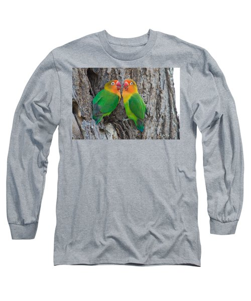Fischers Lovebird Agapornis Fischeri Long Sleeve T-Shirt by Panoramic Images